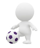 3D football player Stock Image