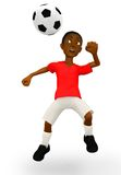 3D Football player Royalty Free Stock Image