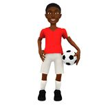 3D Football player Stock Photography