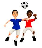 3D Football players Royalty Free Stock Photo