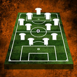 3d Football or soccer field Stock Photo