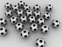 3d footballs Stock Images