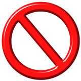3D Forbidden Sign. Isolated in white Royalty Free Stock Image