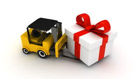 3d forklift Royalty Free Stock Photography