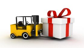 3d forklift Royalty Free Stock Photo