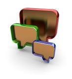 3d forum zrobił ceduła symbolowi Obrazy Stock