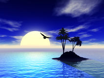 3d foto van het eiland royalty-vrije illustratie