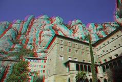 3d foto van klooster Stock Foto's