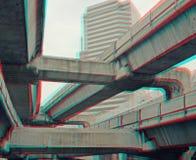 3d foto van metro treinen Royalty-vrije Stock Afbeeldingen