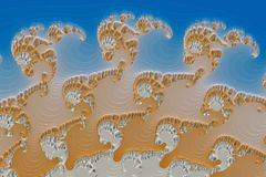 3D fractal beeld royalty-vrije illustratie