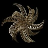 3D Fractal shiny star shap Royalty Free Stock Photography