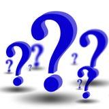 3d Fragezeichen Lizenzfreie Stockbilder