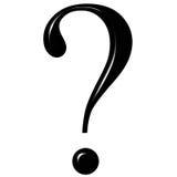 3d Fragezeichen mit Reflexion Stockbild