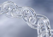 3D Fragile Glass Chain Links Royalty Free Stock Images