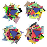 3d fragmented colored spiked shape Royalty Free Stock Photo