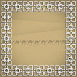 3d frame in arabic style. Vector illustration Stock Image