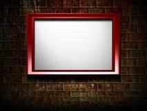 3d frame on grunge background Stock Images
