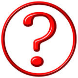 3D Framed Question Mark. Isolated in white Royalty Free Stock Image