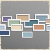 3d frames on grunge background. Vector illustration stock illustration