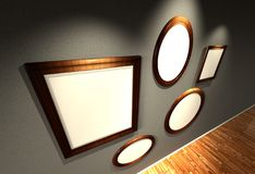 3d frames set Stock Image