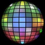 3d framför av ett färgrikt disko klumpa ihop sig Arkivfoton