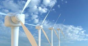 3d framför turbinwind stock illustrationer