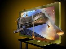 3d förde televisionen Arkivbilder