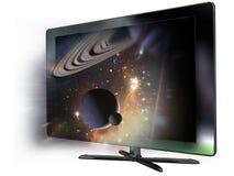 3d förde televisionen Fotografering för Bildbyråer
