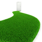 3d fresh green grass road Stock Photography