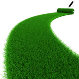 3d fresh green grass road Royalty Free Stock Images