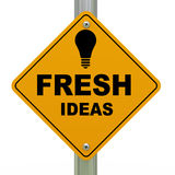 3d fresh ideas road sign Stock Images