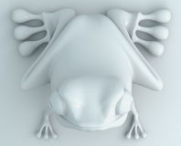 3D frog Royalty Free Stock Photo