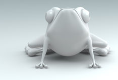 3D frog Royalty Free Stock Images
