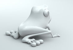 3D frog Stock Images