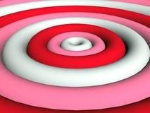 3D - Funky roze ringen Stock Afbeelding