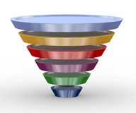 3d funnel structure design Royalty Free Stock Images