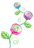 3D Funny Flower Stock Images