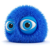 3d funny fluffy creature Royalty Free Stock Photo