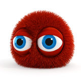 3d funny fluffy creature Royalty Free Stock Photos