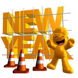 3d funny icon symbol of 2010 new year. Illustration Royalty Free Stock Photography