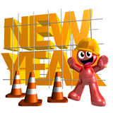 3d funny icon symbol of 2010 new year Stock Image