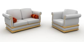 3d furniture detailed vector illustration