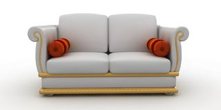 3d furniture detailed Royalty Free Stock Images