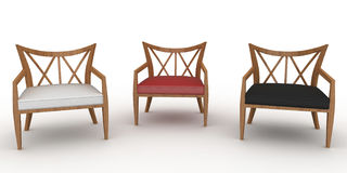 3d furniture detailed Stock Images
