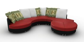 3d furniture detailed Stock Photos