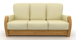 3d furniture detailed Stock Image