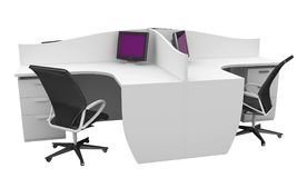 3d furniture office space Stock Photos