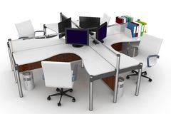 3d furniture office space Royalty Free Stock Photography
