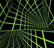3d futuristes rendent le labyrinthe carrelé illustration stock