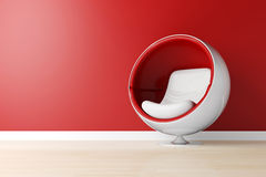 3d futuristic armchair, studio shot Royalty Free Stock Image